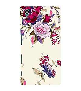 FUSON Peony Flowers Berries Currants 3D Hard Polycarbonate Designer Back Case Cover for Sony Xperia Z5 :: Sony Xperia Z5 Dual 23MP