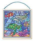 Melissa & Doug 18582 - Glasmalerei Ganz Leicht! - Ozean
