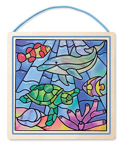 Melissa & Doug 18582 - Semplici Vetrate, Oceano, Multicolore