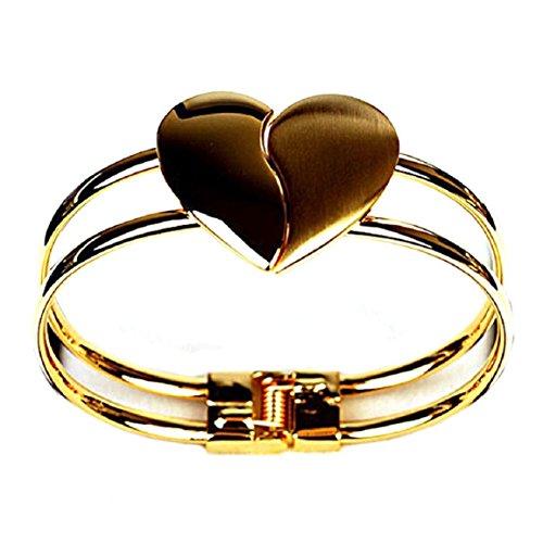 Malloom Nouvelle Dame De La Mode élégant Bracelet De Coeur Cadeau Bracelet De Bracelet Manchette De Bling