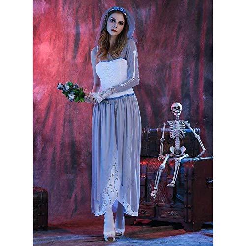 KAIDILA Halloween Kostüm Geist Braut Zombie-Vampir Cosplay Rollenspiel Spiel Uniform Kostüm