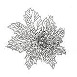 Decorazione Di Natale Cavo Brillantini Artificiali Fiori Di Natale Albero Di Natale Corone Decori Ornamento(argento,6pcs)
