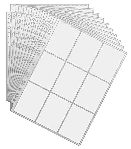 Arkero-G 450 Pockets Sammelkarten 50 Seiten Pro 9-Pocket Pages - Standard-Größe - Album Ordnerseiten für Trading Cards z.B. für Magic, Pokemon Karten