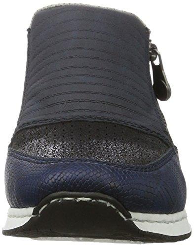 Rieker Damen 56077 Slipper Blau (royal/atlantic/pazifik / 14)