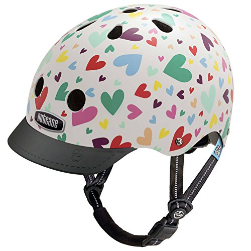 Nutcase Little Nutty Street Helmet Kids Happy Hearts 2019 Fahrradhelm