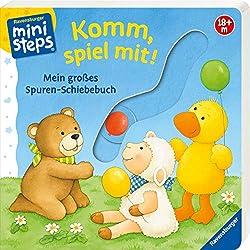 Komm, spiel mit!: Mein großes Spuren-Schiebebuch. Ab 18 Monaten (ministeps Bücher)