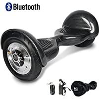 "Cool&Fun Hoverboard Patinete Eléctrico Scooter Monopatín Eléctrico Auto-equilibrio Patín de 10"" From SHOP GYROGEEK 350X2W (Black)"