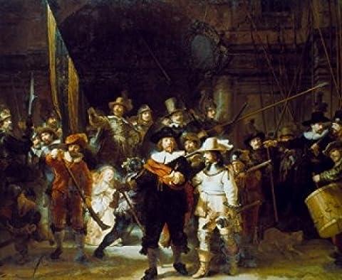 The Night Watch 1642 Rembrandt Harmensz van Rijn (1606-1669/Dutch) Oil on canvas Rijksmuseum Amsterdam Poster Print (60.96 x 91.44