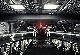 Komar 8-445 Fototapete aus Papier Star Wars – Destroyer Deck, Größe 368 x 254 cm (Breite x Höhe), 8 Teile, inklusive Kleister, Made in Germany, Bunt