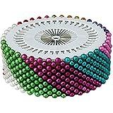 Jungen 480pcs Needlework Assorted color perla cabeza de costura Ramillete Pins