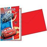 Amscan - Disney Cars 2 Teme Invitations Wit Envelopes - Pack of 6