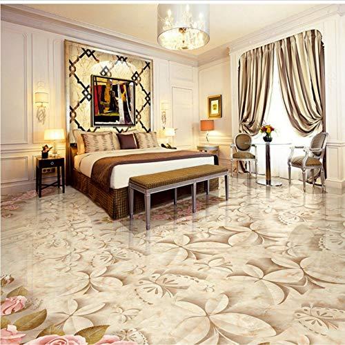 Ytdzsw Benutzerdefinierte Marmorfliesen Parkett Mural 3D Stereo Schlafzimmer Wohnzimmer Hotel Selbstklebende Bodentapete-350X245Cm