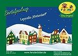 Fischer Fensterbild LEPORELLO WINTERDORF / Bastelpackung / Größe: ca. 91x23 cm / zum Selberbasteln / Winter-Basteln aus Papier und Pappe