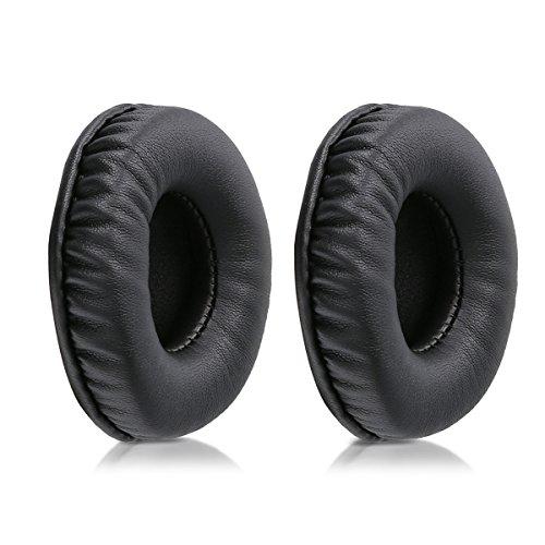 kwmobile 2x Auricolari di ricambio per Sennheiser HD25 /HD 25-1 II /PC150 /PC151 /PC155 - Cuscinetti sostitutivi cuffie Over Ear in similpelle per Headphones - nero