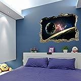 Zegeey 3D Space Star Serie Boden Wandaufkleber Removable Wandtattoo Vinyl Kunst Raumdekor
