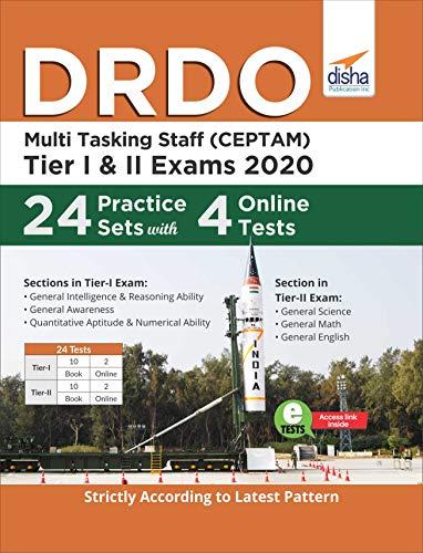 DRDO Multi Tasking Staff (CEPTAM) 2020 Tier I & II Exam 24 Practice Sets with 4 Online Tests