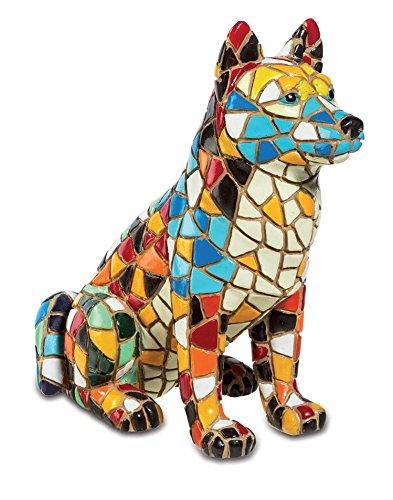 Katerina Prestige–Mosaic Husky Figurine, mo0532