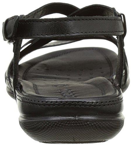 Ecco Damen Flash Offene Sandalen mit Keilabsatz Schwarz (51707black/black)