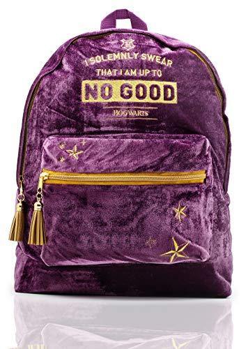 0bb84488 Harry Potter Official Product Large Velvet Women Backpack School Bag |  Hogwarts Marauder's Map Ladies Design