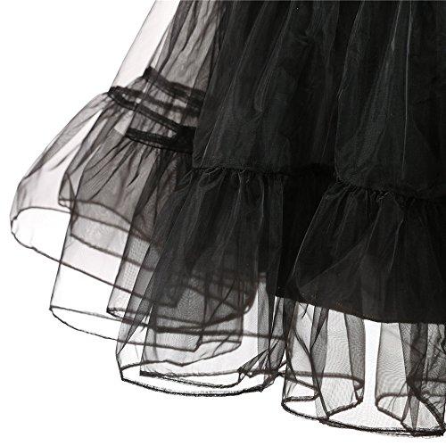 Longra 1950 Petticoat Reifrock Unterrock Petticoat Underskirt Crinoline für Rockabilly Kleid