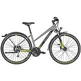 Bergamont Helix 6 EQ Damen Cross Trekking Fahrrad silberfarben/schwarz/grün 2019: Größe: 46cm (160-170cm)