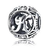 Vintage Lettre K Charm clair CZ Argent sterling 925Pour bracelet Pandora Charm Bracelet