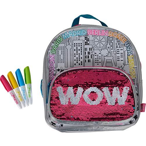 #1018 Color Me Mine Rucksack zum Bemalen mit Wendepailletten inklusive Stifte • Bag Pack Tasche Wende Pailletten Malen
