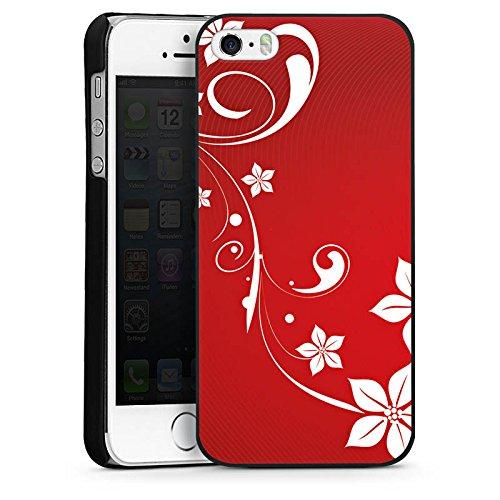 Apple iPhone 5 Housse Étui Silicone Coque Protection Amour Amour C½ur CasDur noir