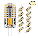 Jpodream® 3.5W G4 LED Lampe, 48X 3014SMD, 300LM, Ersatz für 35W Halogenlampen,12V AC / DC, 3000K Warmweiß, 360° Abstrahlwinkel, LED Birnen, LED Leuchtmittel, 10er Pack