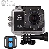 Avant Digital Waterproof Action Camera AD Sports Camera 4K 16MP WiFi Remote Control 170 Ultra Wide Lens Sony Sensor 2017 Newest