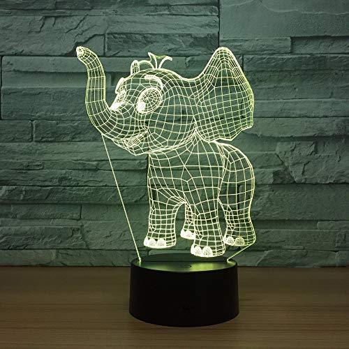 Kleine Elefant Acryl 3d bunte Nachtlichter Usb Plug In Kreative Geschenke Weihnachtsdekorationen...