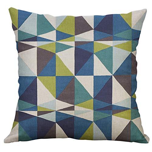 DOLDOA Haushalt Wohnen,Unregelmäßiges geometrisches Muster Kissenbezug Kissenbezug 60x60cm (A) -