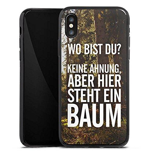 Apple iPhone X Silikon Hülle Case Schutzhülle Sprüche Humor Spruch Silikon Case schwarz