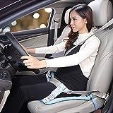 JOYEUX Cinturón de seguridad embarazada. Cinturón de uso obligatorio durante el embarazo, ajustable a cualquier asiento y coche (azul)