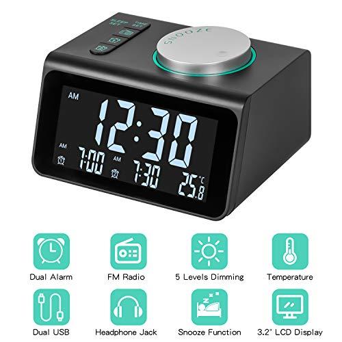 Radio Reloj Despertador, Radio Reloj Digital Reloj de...