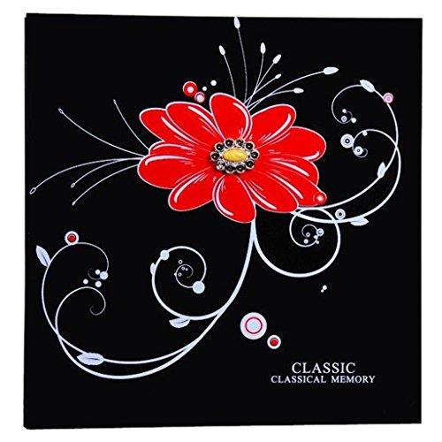 FOOHAO- Albums photo avec des pages collantes, couverture en bois, 20 pages (40 Surface), bricolage Creative Couple Album (Couleur : White card)