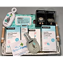SUAVINEX Cesta grande para regalo + Toallitas limpiadoras 70 uds + Baby Colonia 100 ml +