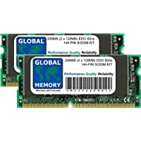 256MB (2 x 128MB) 60ns 144-PIN EDO SODIMM MEMORIA RAM