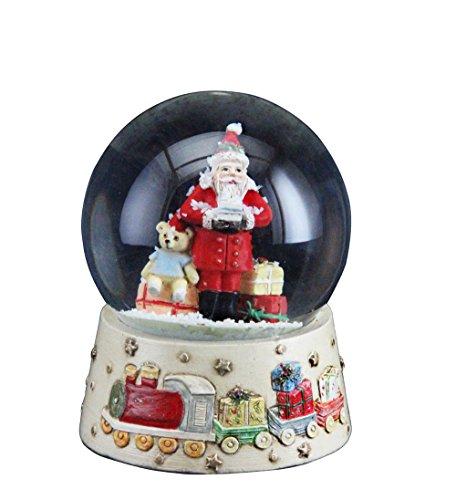 Gisela Graham Traditioneller Weihnachtsmann mit Spielzeug, Schneekugel