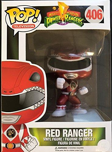 Funko - Figura Pop Power Rangers Rojo Metã¡Lico