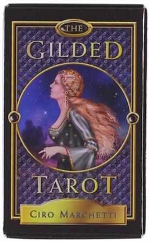 rotkarten für Halloween, Tarot-Deck, vergoldet ()