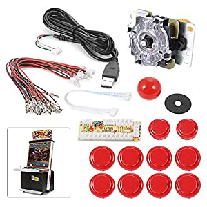 XCSOURCE Zero Delay Arcade Game USB Encoder PC Joystick DIY Kit for Mame Jamma & Other PC Fighting Games