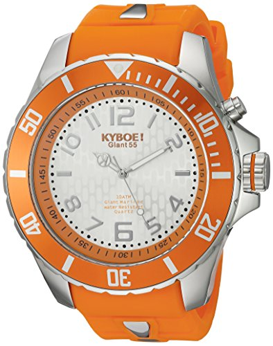 KYBOE! 'Power' Quartz Stainless Steel and Silicone Casual Watch, Color:Orange (Model: KY.55-045.15)