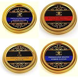 Quartetto di selezione di Caviale..4 x 50 gr.(200 gr).
