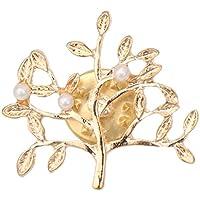 Xuniu Mode Brosche, Baum Form Faux Perle Weihnachten Schmuck Brosche Für Frauen Zubehör Gold