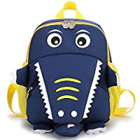Cosyres Crocodile Children Backpack Boys/Girls Kids Backpack Toddler for Nursery (Dark Blue)