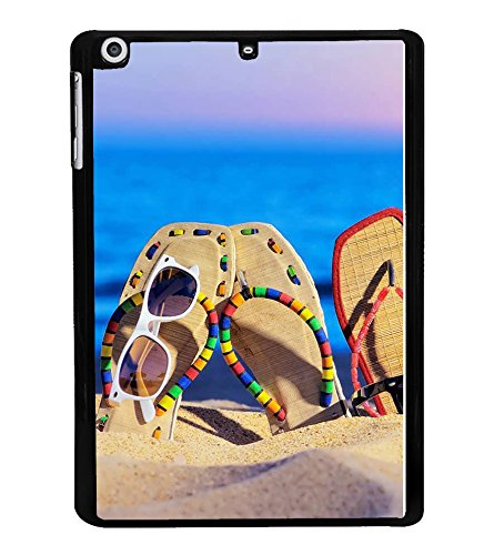 Fuson Designer Back Case Cover for Apple iPad Mini Wifi :: Apple iPad Mini Wifi + Cellular (7.9 Inches) (Beach sand Goggles Stylish Flipflops)  available at amazon for Rs.327