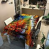 GONGXI Ölgemälde Baum Digitaldruck Polyester wasserdichte Tischdecke ZB2111-6 100x140cm