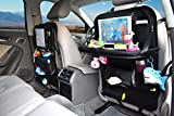 Back Seat Car Organizer With Tablet Holder By YOOSUN, Car Organizer for Kids Baby Toddlers Toy Bottles Storage Foldable Dining Table Family Road Trip Travel Accessories (1)
