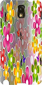 Snoogg Multicolored Daisies And Butterflies 2662 Case Cover For Samsung Galax...